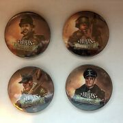 Heroes Of Normandie Official Promo Pin Set 3 Inch - Tournament Reward - New