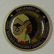 Usaf Challenge Coin Presented By Chief Master Sergeant David L. Richards 49