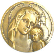 France Religion Virgin And Child Jesus Cast Bronze Model About 5 1/4 By Bouillot