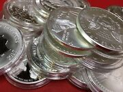 Invest In Pure Silver Lot Of 3 X 1 Oz .999 Bullion Uncirculated Coins Grab Bag