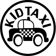 A Kid Taxi Sticker Or Decal. Great For Mom That Car Pools Or Any Kid Driver.