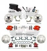 58-68 Chevy Impala Front Wilwood Disc Brake Kit Gm Rear 9 Ford Rear End Manual