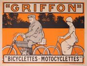 Griffon Motorcycle And Bicycle Vintage Poster By Matet