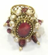 Vintage Antique Handmade 14k Gold Jewelry Ring India