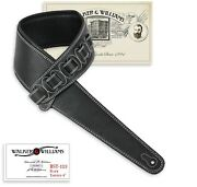 Walker And Williams Bst-113 Black Extra Wide Tapered Acoustic/elect Guitar Strap