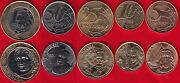 Brazil Set Of 5 Coins 5 Centavos - 1 Real 2007-2008 Unc