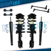 Chevy Malibu Struts Coil Assembly + Shock Absorbers + Sway Bars For Front And Rear