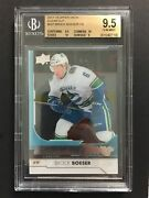Brock Boeser 2017 Ud Young Guns Clear Cut Rookie Rc Card Ssp Acetate Bgs 9.5