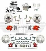1958-68 Impala Front And Rear Disc Brake Kit Wilwood Calipers And Chrome Booster