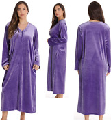 Plus Size Womenand039s Full Length Extra Soft Plush Zipper Lounger Robexlargered
