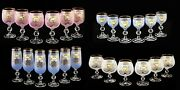 Bohemian Crystal Colored Enameled Glasses Wine Champagne Brandy Liqueur Set Of 6