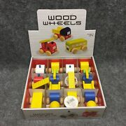 12 Westminster Wood Wheels Toy Trucks And Cars Set New In Box Ages 3+