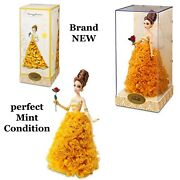 Disney Store Desiger Beauty And The Beast Princess Belle Doll Le Brand New Mint