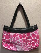 Thirty One Black Suite Skirt Purse Pink Giraffe 31 Gifts