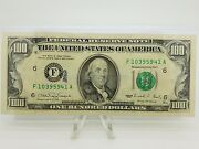 1990 One Hundred 100 Dollar Bill Federal Reserve Note Series Extra Strike