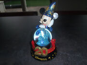 Extremely Rare Walt Disney Mickey Mouse Wizard Figurine Snowglobe Statue