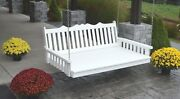 Outdoor 6 Foot Royal English Swing Bed - Multiple Colors - Amish Made Usa