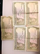 Pakistan 5 Banknotes Of 10 Rupees,nice Collectible Vintage