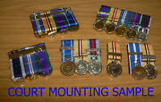 5 Medals - Miniature Medal Supplying And Court Mounting