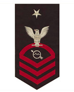 Vanguard Navy E8 Male Rating Badge Operations Specialist Seaworthy Red On Blue