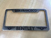 San Francisco Bentley License Plate Frame Chrome Metal