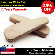 2pcs Leather Seat Armrest Cover Fit For Lexus Gx 470 Gx470 2003-2009 Ivory Beige
