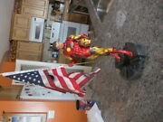 Sideshow Classic Ironman Comiquette W/flag. Customized For Battle Damaged