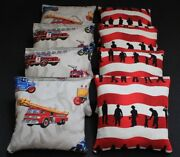 Fire Fighter Fire Rescue Dept Beanbags 8 Aca Regulation Corn Hole Game Bags