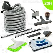 Replacement Central Vacuum 30' Hose And Powerhead Kit For Beam Electrolux Nutone