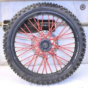 2009 Honda Crf450 Front Wheel Assembly Great Tire