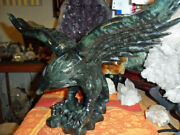 Jade Black Eagle Carving Exceptional And Beautiful Antique Aaa+ Huge