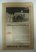 Vintage 1920 Oilpull Advance Rumely 12-20 Tractor Print Ad Advertising Oil Pull