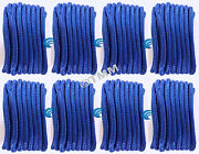 8 Blue Double Braided 1/2 X 20and039 Hq Boat Marine Dock Lines Mooring Ropes Cords
