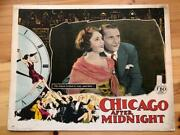 Scene From Chicago After Midnight 11 X 14 Lobby Card Silent Movie