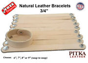 Natural Leather Bracelets 3/4 In - Wholesale Bands - Engraving Ready- Craft Usa