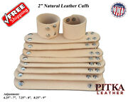 Natural Leather Bracelets 2 In With Adj. - Wholesale Cuffs - Tooling - Craft Usa