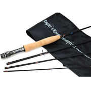 Fly Fishing Rod Trout Rod Graphite Medium Action Rod 8' 9' For 3/4 5/6wt Fly Rod