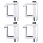 Set Of 4 Aluminum Truck Cap/camper Shell Mounting Non-drilling C-clamp Silver