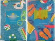 Summer Fun Pool Party/pool Time Vinyl Flannel Back Tablecloths-var Sizes/styles