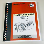 Allis Chalmers D-17 Parts Manual Catalog Series I Ii Iii One Two Three 1 2 3 D17