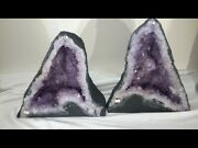 Pair Of Amethyst Church Crystal Cathedral Geodes. 15 Tall