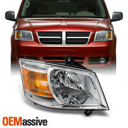 Fits 08-10 Dodge Grand Caravan Clear Passenger Right Side Replacement Headlight