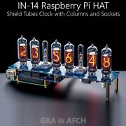 In-14 Nixie Tubes Clock Raspberry Pi Hat Or Arduino Shield Ncs314 [with Options]