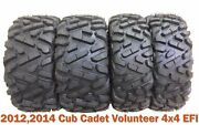 Set 4 Atv Utv Tires 26x9-12 And 26x11-12 For 1214 Cub Cadet Volunteer 4x4 Efi