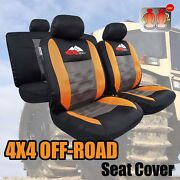 New Elite 9pcs Cool Mesh Combo Pack Car Seat Cover Universal Size For Tacoma Trd