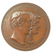 1882 Britain Germany Marriage Of Duke Of Albany And Princess Helen Bronze 64mm