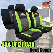 New 9pcs Cool Mesh 4wd Embroidery Car Seat Cover Universal Size For Trd Sports