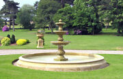 Decorative Cast Stone Large Triple Bowl Fountain Ft40 From Acanthus