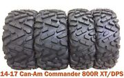 Full Set Atv Tires 27x9-14 And 27x11-14 For 14-17 Can-am Commander 800r Xt/dps