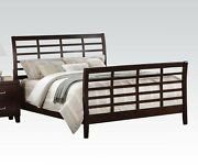 Preston Cappuccino Finish 1 Piece Queen Cal King Est King Size Bed Bedroom Home
